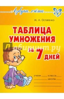 Остапенко Марина Анатольевна Таблица умножения за 7 дней