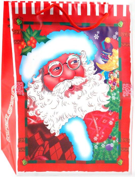 Иллюстрация 1 из 2 для Пакет новогодний пластиковый 30x23x8 (LY070709-4) | Лабиринт - сувениры. Источник: Лабиринт