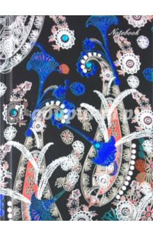 Записная книжка 80 листов, Орнамент 5 (18560)Записные книжки средние (формат А6)<br>ЗАПИСНАЯ КНИЖКА.<br>Размер: 105х145 мм.<br>Количество листов: 80.<br>Тип бумаги: офсет.<br>Переплет: книжный.<br>Твердая обложка с металл. тиснением и стразами.<br>Сделано в Китае.<br>