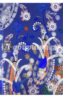 Ежедневник 80 листов А5, Цветочная фантазия 3 (18277)Ежедневники недатированные и полудатированные А5<br>Ежедневник недатированный.<br>Размер: 145х210 мм.<br>Количество листов: 80.<br>Тип бумаги: офсет.<br>Переплет: книжный.<br>Твердая обложка с металл. тиснением.<br>Сделано в Китае.<br>