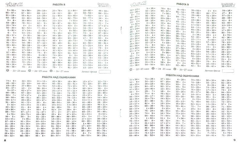 из 1 для. книги 3000 примеров по математике (Сложение и вычитание в пределах 100).  2-3 классы - Нефедова, Узорова.