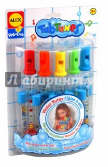 """Игрушка для ванны """"Водяные флейты"""" с цветными нотами (4005) ALEX"""