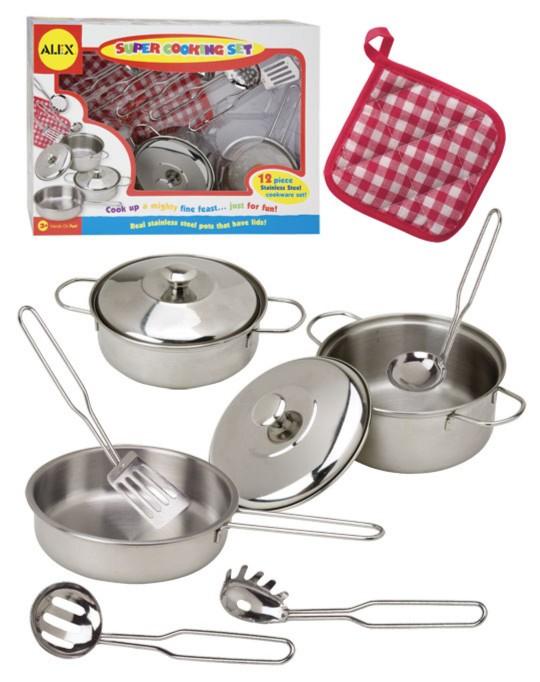 Иллюстрация 1 из 5 для Набор посуды из нержавейки (12 предметов) (603N) | Лабиринт - игрушки. Источник: Лабиринт