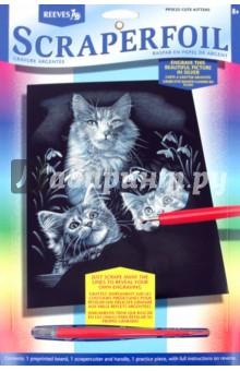 """Гравюра серебряная """"Милые котята"""" (PPSF25)"""