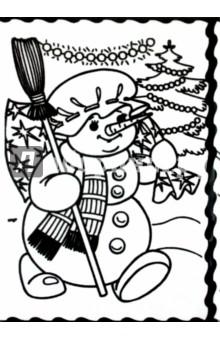 Бархатная картина Снеговик (07377)