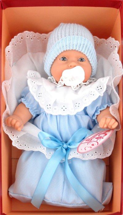 Иллюстрация 1 из 9 для Кукла-младенец Мило в голубом, плачущий, 26см. (4406В) | Лабиринт - игрушки. Источник: Лабиринт
