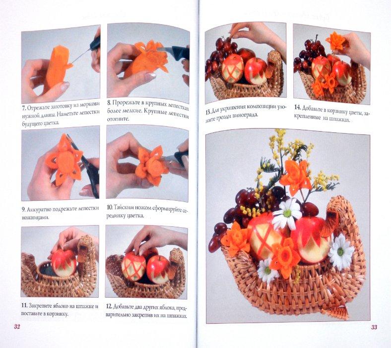 Цветы из фруктов своими руками пошагово фото 574