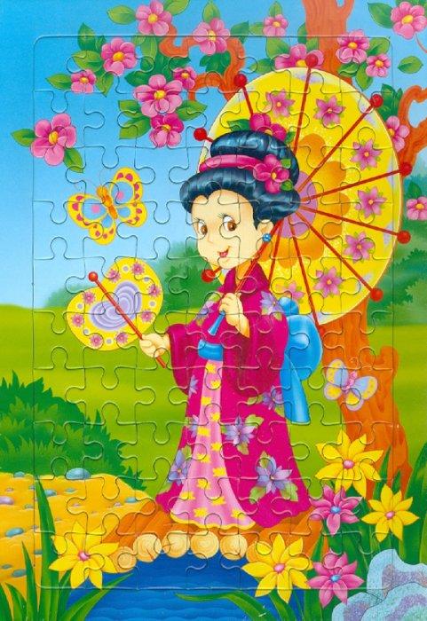Иллюстрация 1 из 3 для Развивающие рамки. Девочка в кимоно | Лабиринт - игрушки. Источник: Лабиринт