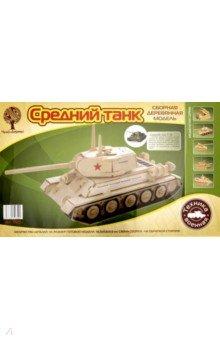 """Сборная деревянная модель """"Средний танк"""" (P175)"""