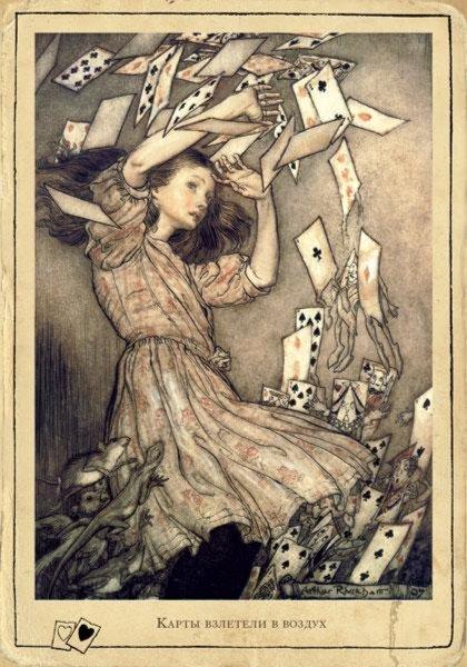 Иллюстрация 1 из 36 для Приключения Алисы в Стране Чудес. Открытки с историей - Льюис Кэрролл | Лабиринт - книги. Источник: Лабиринт