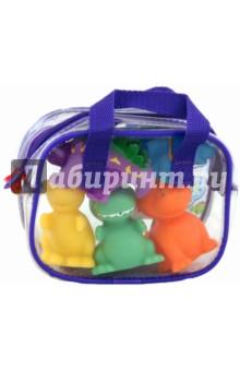 Игрушки для ванны Динозаврики (700D)Игрушки для ванной<br>Веселые разноцветные динозаврики для игры в ванной. <br>Плавают в воде. <br>В наборе 5 динозавриков в удобной пластиковой сумочке. <br>Для детей от 6 мес.<br>Сделано в Китае.<br>