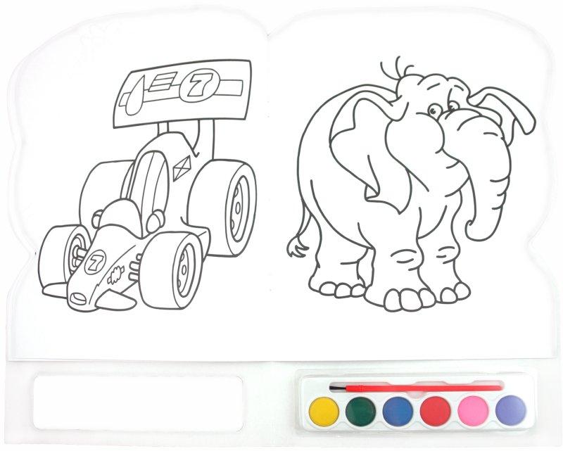 Раскраски веселые карандаши
