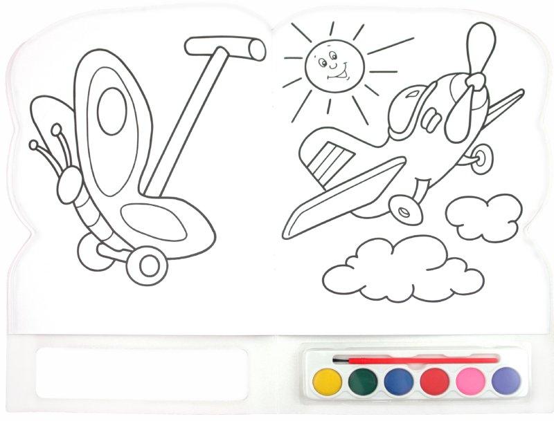 Раскраска для раскрашивания красками