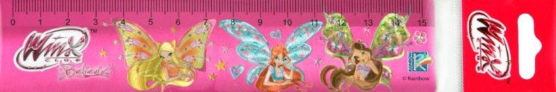 """Иллюстрация 1 из 8 для Линейка пластмассовая 15 см фольгированная """"Winx"""" (FE-04/WB)   Лабиринт - канцтовы. Источник: Лабиринт"""