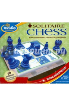 Игра-головоломка Шахматы для одногоГоловоломки<br>Шахматы для одного - это игра-головоломка для одного игрока, основывающаяся на правилах игры в шахматы. Ничего страшного, если вы никогда не играли в классические шахматы - Шахматы для одного это отличная возможность приобрести навыки игры и почувствовать уверенность в своих силах! Данная игра может быть классифицирована, как шахматные задачи, что означает, что в ней используются правила шахмат с некоторыми изменениями. <br>Цель игры: Каждым ходом бейте одну из фигур, пока на доске не останется только одна фигура. <br>Включает 60 оригинальных заданий. <br>Уровни сложности: от начинающего до эксперта (4 уровня). <br>Количество игроков: один. <br>Возрастная группа: от 8 лет. <br>В наборе: игровое поле, карточки с заданиями (60 шт.), шахматные фигуры (10 шт.), инструкция на русском языке. <br>Игровое поле является так же удобной коробкой для хранения фигур, с отделением для карточек. Очень удобно и компактно - можно брать с собой в дорогу, на дачу и проч.<br>Страна изготовитель: Китай.<br>