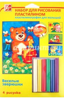 Набор для рисования пластилином Веселые зверюшки (21С 1365-08)