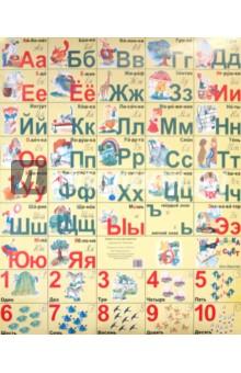 Азбука и счет для девочек (плакат)