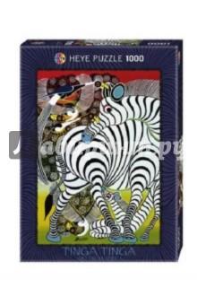 Puzzle-1000 Зебра (29425)Пазлы (1000 элементов)<br>Пазлы-мозаика.<br>Правила игры: вскрыть упаковку и собрать игру по картинке.<br>В коробке 1000 пазлов.<br>Размер собранной картинки: 48х68 см.<br>Не давать детям до 3-х лет из-за наличия мелких деталей.<br>Материал: картон<br>