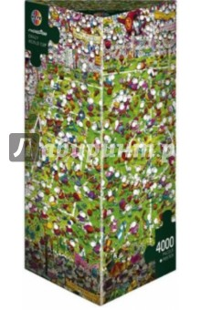 Puzzle-4000 Кубок мира Mordillo (29072)Пазлы (2000 элементов и более)<br>Пазлы-мозаика.<br>Правила игры: вскрыть упаковку и собрать игру по картинке.<br>В коробке 4000 пазлов.<br>Размер собранной картинки: 136х96 см.<br>Не давать детям до 3-х лет из-за наличия мелких деталей.<br>Материал: картон<br>