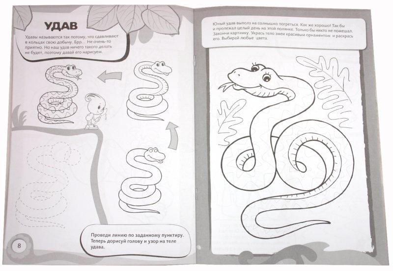 Иллюстрация 1 из 17 для Рисуем и раскрашиваем диких животных. 6+ | Лабиринт - книги. Источник: Лабиринт