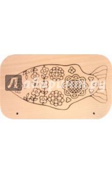 Доска под роспись с контуром: Рыбка (Д-477)