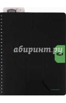 Тетрадь 96 листов, А5. Stila Accent (110542) полиграфика тетрадь database 96 листов в клетку цвет черный оранжевый