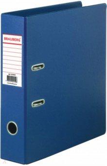 Папка-регистратор (70 мм, синяя) (222655)Папки-регистраторы<br>Папки-регистраторы BRAUBERG изготовлены из высококачественного картона, покрытого цветным пластиком. Служат в 2 раза дольше по сравнению с обычными картонными папками.<br>Сделано в России<br>