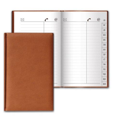 """Телефонная книжка А7, 56 листов """"Favorite"""" коричневая (123509) - Издательство Альфа-книга"""