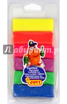 Пластилин 6 цветов по 25 г., флюоресцентный (33) Jovi