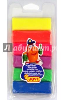 Пластилин 6 цветов*25 гр. флюоресцентный (33) Jovi