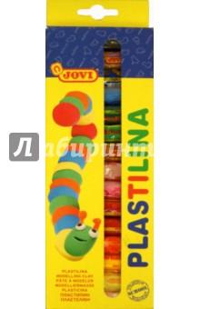 Пластилин 15 цветов*14 гр. (90/15)Пластилин более 10 цветов<br>Пластилин цветной 15 шт.*14 гр. <br>Пластилин на растительной основе. <br>Очень мягкий, легко разминается и смешивается.<br>Не прилипает, не пачкает руки. Не высыхает.<br>Можно использовать для рисования пластилином.<br>Состав: воск, крахмал, белое вазелиновое масло.<br>Для детей от нуля лет.<br>Товар соответствует СанПин 2.4.007-93<br>Упаковка: картонная коробка с европодвесом.<br>Страна-производитель: Испания.<br>