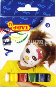 Грим-стик для лица (пигментированный воск), 6 цветов 17 гр. (J190)