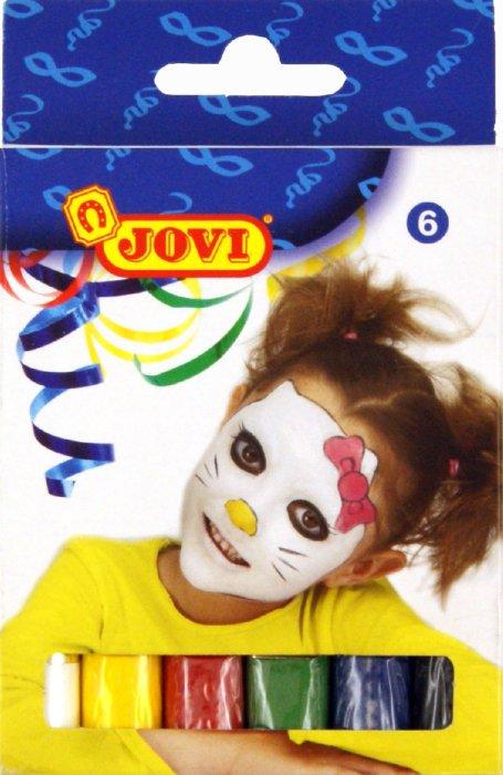 Иллюстрация 1 из 3 для Грим-стик для лица (пигментированный воск), 6 цветов 17 гр.  (J190)   Лабиринт - игрушки. Источник: Лабиринт