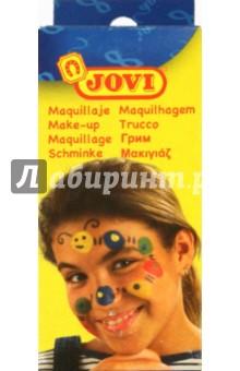 Грим-крем для лица (пигментированный воск) в баночках 6 цветов. (J174)
