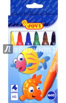 Фломастеры Maxi 6 цветов (1706L)Фломастеры 6 цветов (1—8)<br>Фломастеры на водной основе, без запаха. Яркие цвета. Легко смываются с рук. Фибровый наконечник позволяет варьировать ширину линии.<br>Сделано в Китае<br>