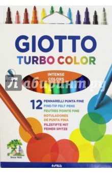 "Набор фломастеров ""Giotto Turbo color"" 12 цветов (071400) Fila"