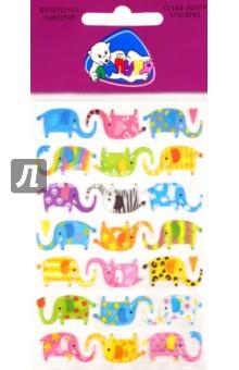 Наклейки детские Слоны (CPS010)Наклейки детские<br>Мягкие пластиковые наклейки с воздушным наполнением. Приятные на ощупь. Многократное переклеивание без потери качества! Не оставляют следов на одежде!<br>Для детей от 3-х лет. <br>Не подлежит обязательной сертификации. <br>Произведено: Китай<br>Упаковка: блистер<br>