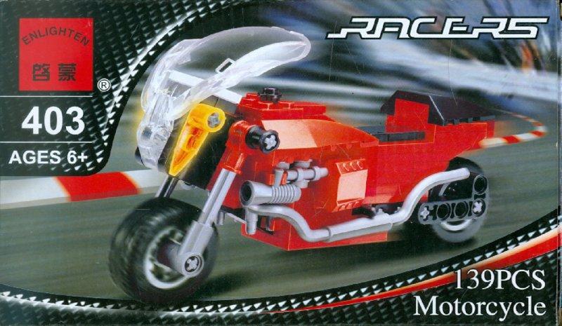 """Иллюстрация 1 из 2 для Конструктор """"Мотоцикл"""" 139 деталей (403)   Лабиринт - игрушки. Источник: Лабиринт"""
