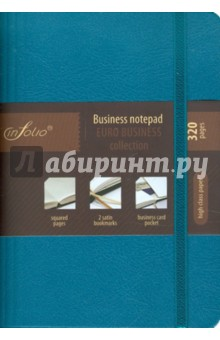 "Бизнес-блокнот In Folio ""Euro Business"" (aquamarine) (1032)"