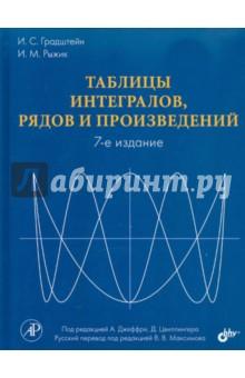 Таблицы интегралов, рядов и произведенийМатематические науки<br>Книга представляет собой наиболее полный справочник таблиц интегралов, сумм, рядов и произведений, существующий на сегодняшний день. Включает в себя следующие разделы: элементарные функции, неопределенные интегралы от элементарных функций, определенные интегралы от элементарных функций, неопределенные и определенные интегралы от специальных функций, специальные функции, теория векторного поля, алгебраические неравенства, интегральные неравенства, матрицы и некоторые результаты, относящиеся к ним, определители, нормы, обыкновенные дифференциальные уравнения, преобразования Фурье, Лапласа и Меллина, Z-преобразование. Логически таблицы организованы по стандартным формам подынтегральных функций и упорядочены по возрастанию сложности.<br>7-е издание.<br>