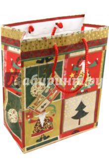 Пакет бумажный новогодний 18х23х10 (17750)