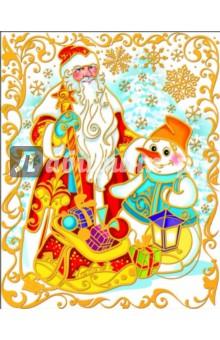 """Украшение новогоднее оконное """"Дед Мороз"""" (22258)"""