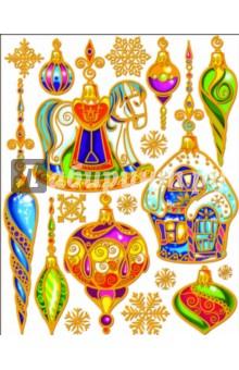 """Украшение новогоднее оконное """"Елочные украшения"""" (22252)"""