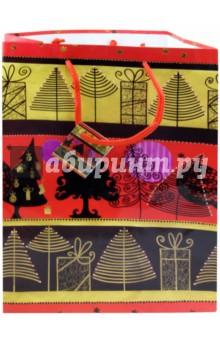 Пакет бумажный новогодний 26х33х13 см (19413)