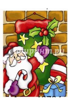 Пакет бумажный новогодний 33х46х10 см (12734)