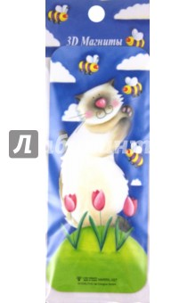 """3D магнит Кошки """"MARRIL-027"""" (304025)"""