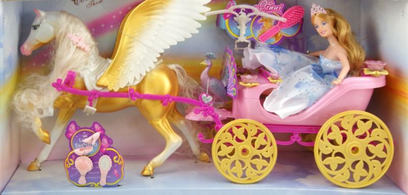 Иллюстрация 1 из 2 для Кукла + лошадь с повозкой + аксессуары (83153)   Лабиринт - игрушки. Источник: Лабиринт