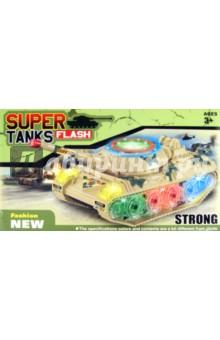 Танк свет, звук на батарейках в коробке (132)