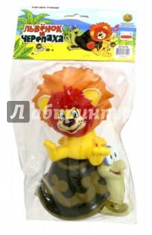 Пластизоль Львенок и Черепаха (10 и 8 см) (3378GT)Герои мультфильмов<br>Игрушка из высококачественных полимерных материалов.<br>С этими игрушками ребенок может играть и в ванной.<br>Не содержит фенол!<br>Высота: 10 см. и 8 см.<br>Для детей от 1-го года.<br>Изготовлено в Китае.<br>