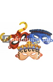Карнавальные маски для детей. Герои Древнего Крита. Минотавр, принц, аристократ (ДК 010)